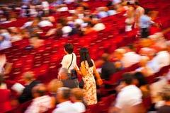 在竞技场二维罗纳,意大利的观众 库存图片