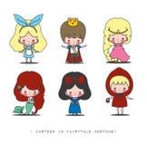 在童话服装的动画片 库存照片