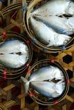 在竹篮子的鱼 图库摄影