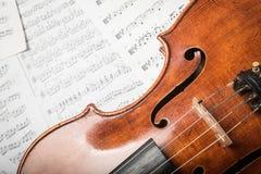 在笔记的中提琴 免版税库存图片