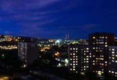 在符拉迪沃斯托克的夜 库存照片
