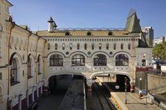 在符拉迪沃斯托克的火车站 俄国 免版税图库摄影