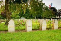 在第一次世界大战丧生的墓碑回教战士 库存照片
