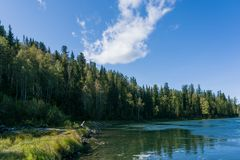 在第一阵急流附近的Kizir河 库存照片