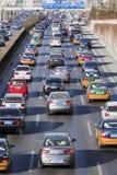 在第三条环行路,北京,中国的交通堵塞 库存图片