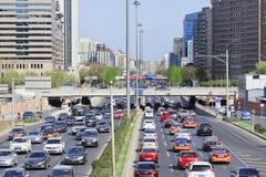 在第三条环行路,北京,中国的交通堵塞 免版税库存图片