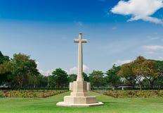 在第二次世界大战墓地的严重石头, 库存照片