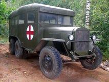 在第二次世界大战期间的救护车 库存图片
