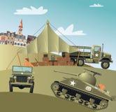 在第二次世界大战的美国陆军队伍 皇族释放例证
