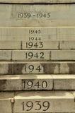 在第二次世界大战纪念碑的每年步 库存图片