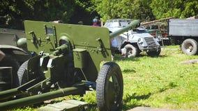 在第二次世界大战Leopolis格兰披治利沃夫州乌克兰1期间的短程高射炮 06 2018年 股票视频