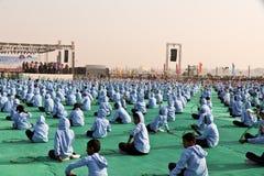 在第29个国际风筝节日的印地安风筝2018年-印度 免版税库存照片