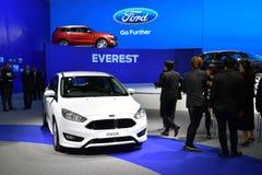在第38个曼谷国际泰国汽车展示会的福特焦点 免版税库存图片