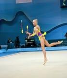在第32个节奏体操世界冠军的Yana Kudryavtseva (俄罗斯), 库存照片
