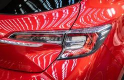 在第54个贝尔格莱德国际汽车和汽车展示会的标致汽车汽车 图库摄影