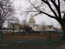 在第58个总统就职典礼,唐纳德・川普,华盛顿特区,美国的就职典礼以后的美国国会 库存图片