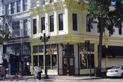 在第5个Ave的斯宾塞Ogden大厦在圣Diego's Gaslamp处所 免版税图库摄影