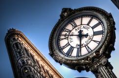 在第5个ave的时钟 免版税库存照片