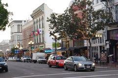 在第5个Ave的Llewelyn大厦在圣Diego's Gaslamp处所 库存照片