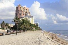 在第18条街道的北部海滩 免版税库存照片