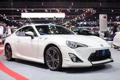 在第30泰国国际马达商展的丰田汽车2013年12月3日在曼谷,泰国 库存图片