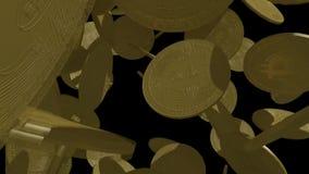 在等级的Bitcoin价值 股票录像