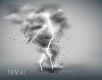 在简单的背景的龙卷风 也corel凹道例证向量 免版税库存图片