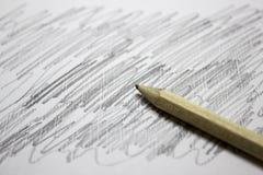 在简单的铅笔的冲程 库存图片