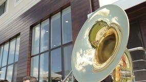 在管乐器的反射 影视素材