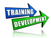 在箭头的培训发展 免版税库存图片