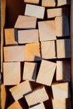 在箱子的干燥木空白 免版税库存照片