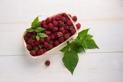在箱子的成熟莓 免版税库存照片