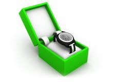在箱子的手表 免版税库存照片