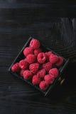 在箱子的新鲜的莓 库存照片