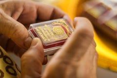 在箱子的菩萨护身符 免版税库存照片