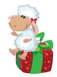 在箱子的绵羊 免版税库存图片