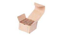 在箱子的9mm弹药 免版税库存照片