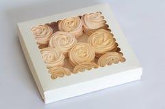 在箱子的feijoa的自创桃红色蛋白软糖-理想的souris 免版税库存照片