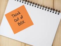 在箱子13之外认为 免版税库存图片