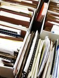 在箱子adn文件夹的企业文件 免版税库存照片