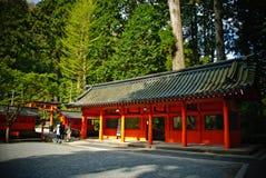 在箱根,日本山的寺庙  免版税库存图片