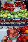 在篮子的各种各样的果子 库存照片