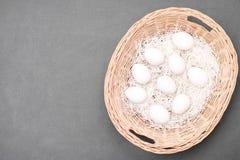 在篮子的所有您的鸡蛋 库存图片