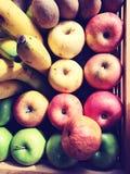 在篮子的果子 库存照片
