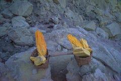 在篮子的硫磺 免版税库存照片