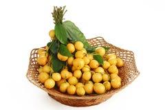 在篮子的缅甸葡萄 库存照片