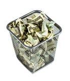在篮子的货币 免版税库存照片