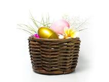金黄和桃红色复活节彩蛋 库存图片