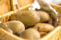 在篮子2的未加工的土豆 图库摄影