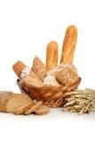 在篮子3的面包 库存照片
